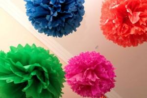 pompom de papel de seda