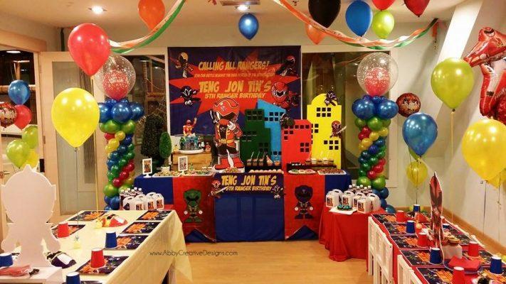decoração Power Rangers de aniversario