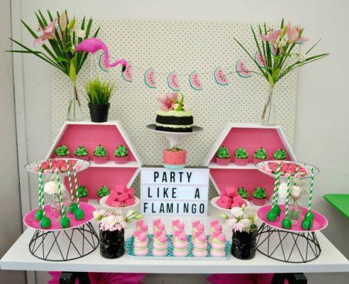 flamingo decoração aniversário