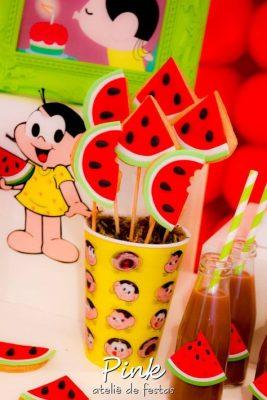 decoração de festa infantil com o tema turma da mônica