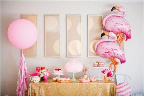 festa caseira flamingo