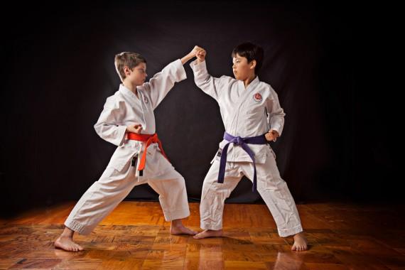 meninos são competitivos - karate