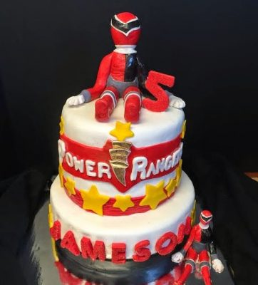 aniversário Power Rangers bolo