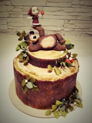 urso e masha bolo
