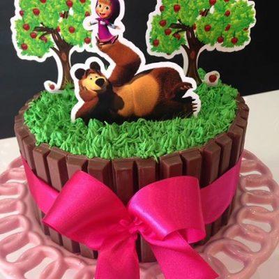 bolo decorado masha e urso