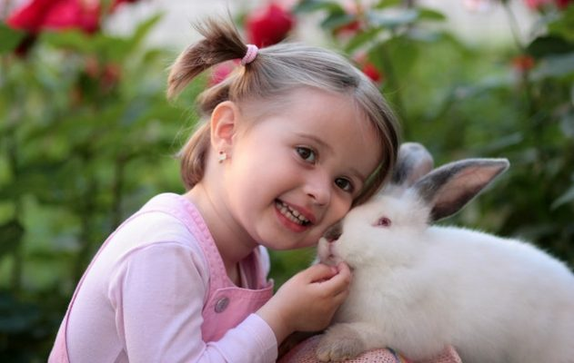 garota com coelho