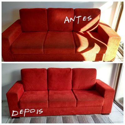 limpeza do sofá (antes e depois) )Max-Clean