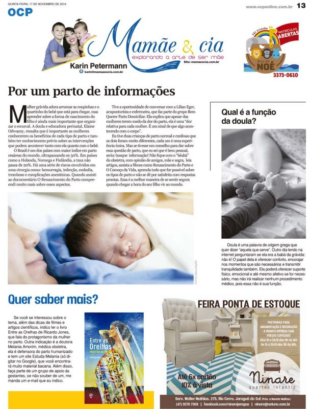 parto de informações, doula e literatura sobre parto