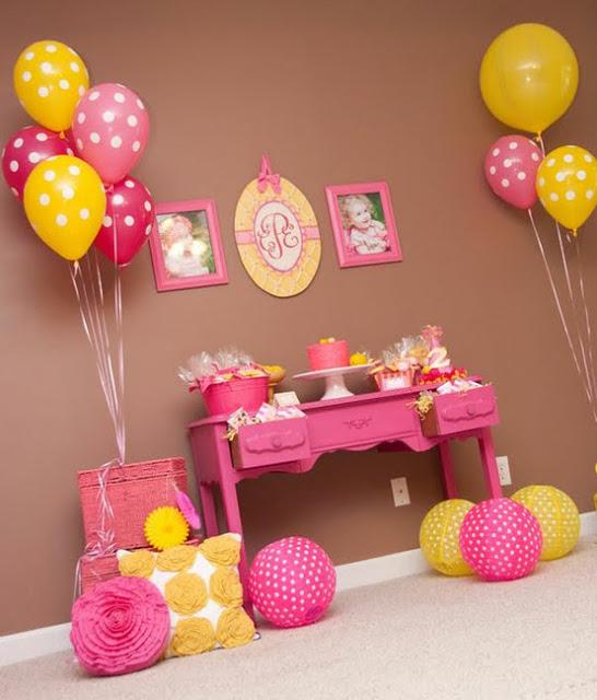 Decoração simples para aniversario caseiro para meninas