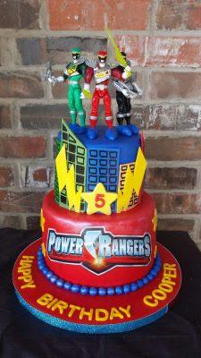 O melhor bolo de aniversário Power Rangers