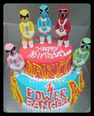 bolo com Power Rangers